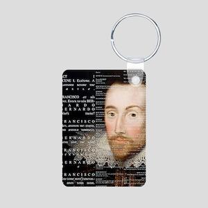 Shakespeare, Hamlet, Aluminum Photo Keychain