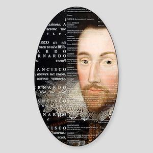 Shakespeare, Hamlet, Sticker (Oval)
