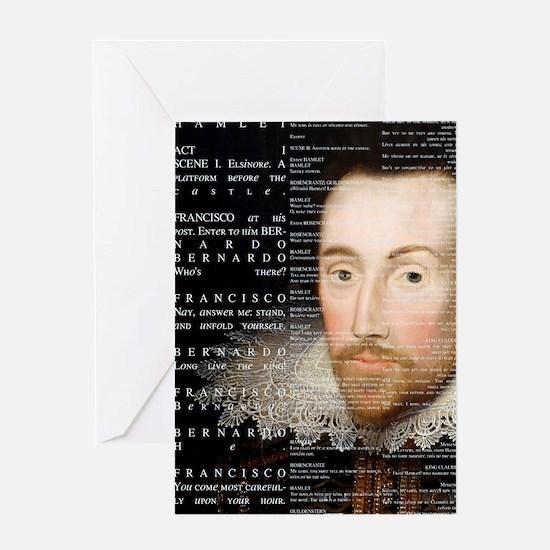 Shakespeare, Hamlet, Greeting Card