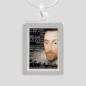 Shakespeare, Hamlet, Silver Portrait Necklace