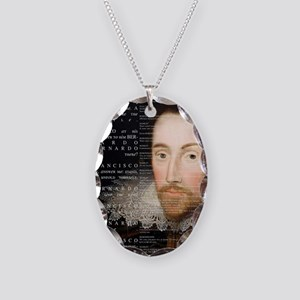 Shakespeare, Hamlet, Necklace Oval Charm