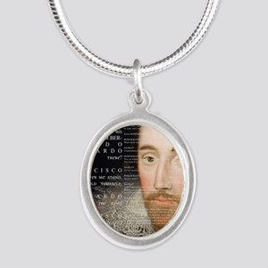 Shakespeare, Hamlet, Silver Oval Necklace
