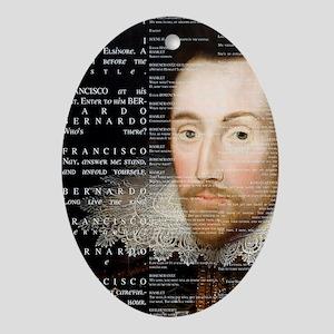 Shakespeare, Hamlet, Oval Ornament