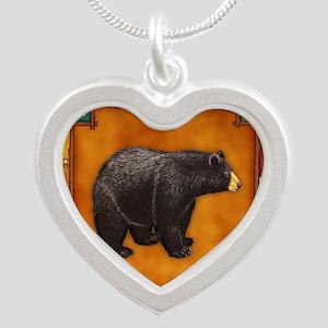 Bear Best Seller Silver Heart Necklace