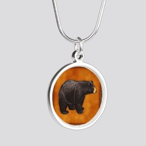Bear Best Seller Silver Round Necklace