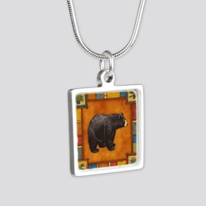 Bear Best Seller Silver Square Necklace