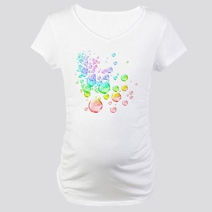 Colored bubbles Maternity T-Shirt