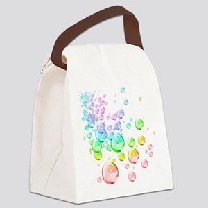 Colored bubbles Canvas Lunch Bag