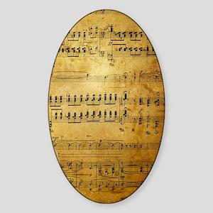 Sheet Music, Vintage, Sticker (Oval)