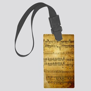 Sheet Music, Vintage, Large Luggage Tag