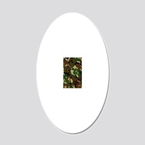 Camouflage 20x12 Oval Wall Decal