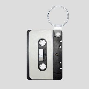 Cassette Tape Aluminum Photo Keychain