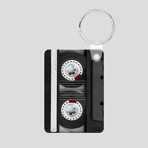 Retro, Cassette Aluminum Photo Keychain