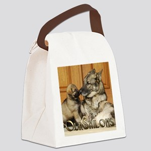 00cover-tuck-pups Canvas Lunch Bag