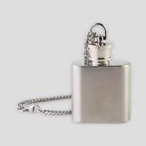 Reading girl on top of book pile Flask Necklace