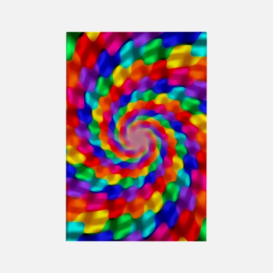 Psychedelic Spiral Rectangle Magnet