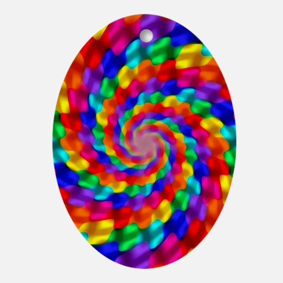 Psychedelic Spiral Oval Ornament