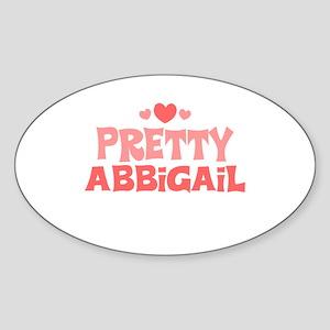 Abbigail Oval Sticker