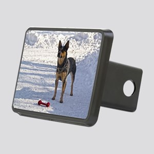 Nomi with her bone Rectangular Hitch Cover