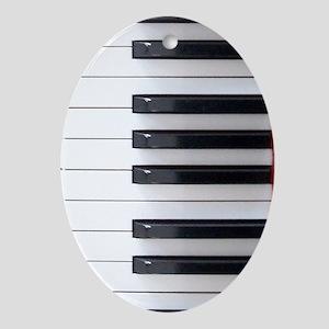 Keyboard 4 Oval Ornament