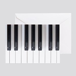 Piano Keyboard 5 Greeting Card