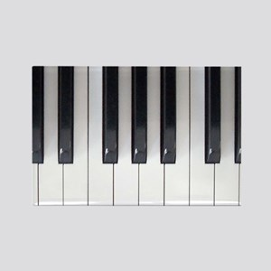 Piano Keyboard 5 Rectangle Magnet
