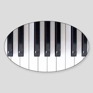 Piano Keyboard 5 Sticker (Oval)