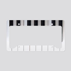 Piano Keyboard 5 License Plate Holder
