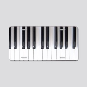 Piano Keyboard 6 Aluminum License Plate