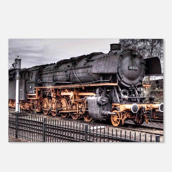 Vintage Locomotive Steam  Postcards (Package of 8)