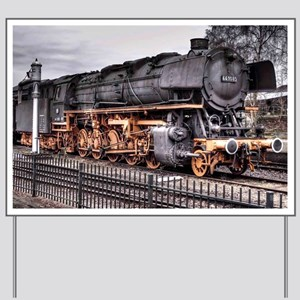 Vintage Locomotive Steam Train Yard Sign