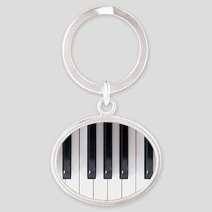 Keyboard 7 Oval Keychain