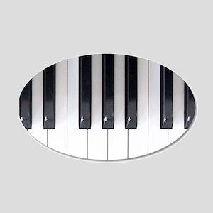Keyboard 7 20x12 Oval Wall Decal