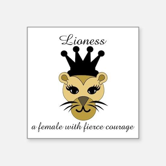 """Lioness Square Sticker 3"""" x 3"""""""