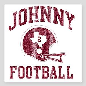 "Johnny Football Square Car Magnet 3"" x 3"""