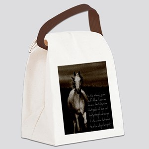 The Horse Canvas Lunch Bag