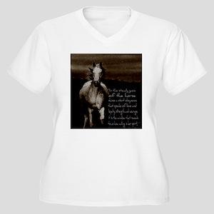 The Horse Women's Plus Size V-Neck T-Shirt