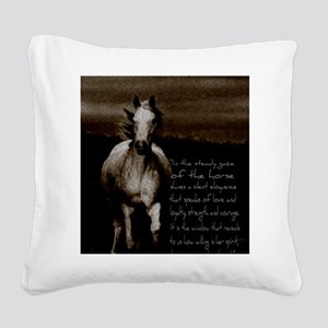 The Horse Square Canvas Pillow