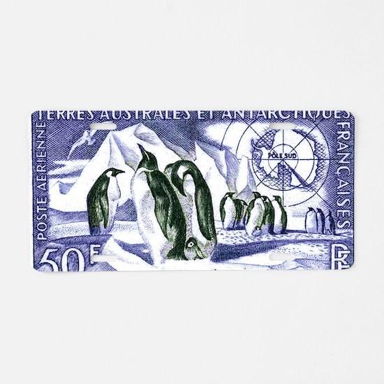 1956 French Antarctic Adeli Aluminum License Plate