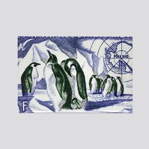 1956 French Antarctic Adelie Peng Rectangle Magnet