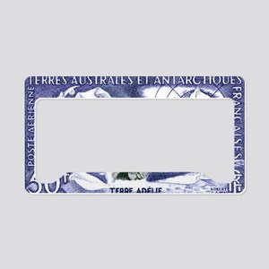 1956 French Antarctic Adelie  License Plate Holder