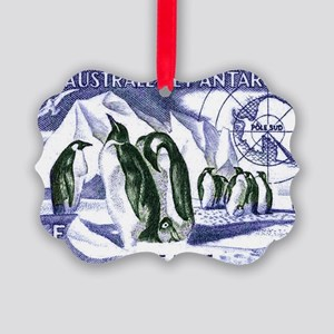 1956 French Antarctic Adelie Peng Picture Ornament