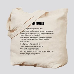 Gym Rules Tote Bag