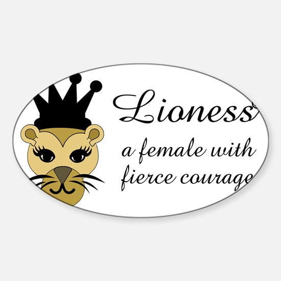 Lioness Sticker (Oval)