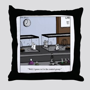 Control Group Mice Throw Pillow