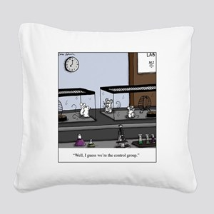Control Group Mice Square Canvas Pillow