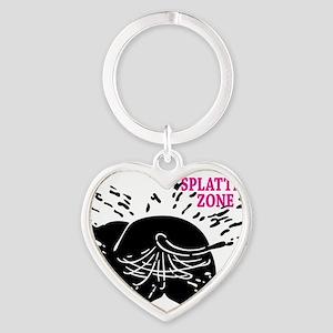 Splatter Zone Heart Keychain