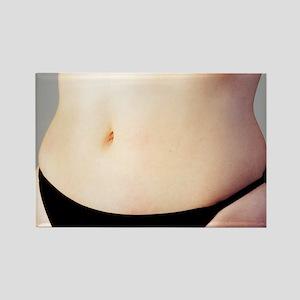Woman's naked abdomen Rectangle Magnet