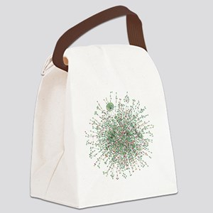 Yeast protein interaction map Canvas Lunch Bag