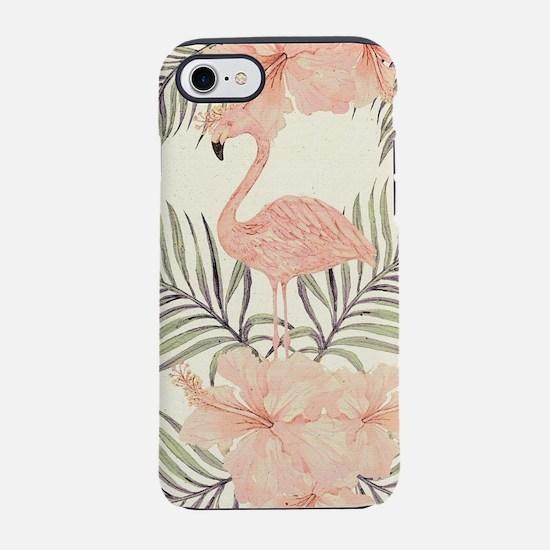 Vintage Flamingo iPhone 7 Tough Case